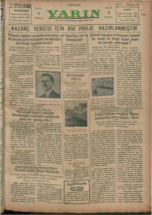 Yarın Gazetesi 16 Ocak 1930 kapağı