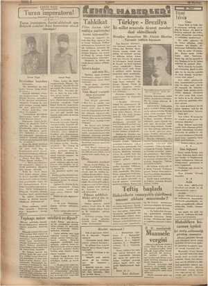 EHRVER PA S ü l Turan ımperatoru' ı Nıtu—ı(ım yııın L eiigemd Turan ımperatoru, Lenmı' aldatmak için Bolşevik orduları Asya