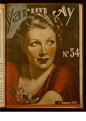 Yarım Ay Dergisi July 1, 1936 kapağı
