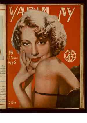 Yarım Ay Dergisi November 15, 1936 kapağı