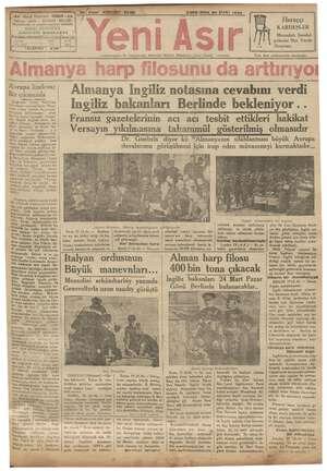 -Gazi Bulvarı - in ie TELEFON : IZMIR - e e Cumhuriyetin Ve Cumhuriyet Eserinin Bekçisi, ya 2e MARTI 1935 Sabahları Çiner