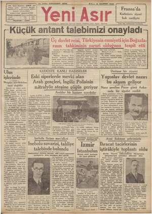 44 - Gazi Bulvarı - İmtiyaz sahibi : Başmuharrir ve , ABONE Başbakan, Anka IZMIR - istasyonunda di; , Cumhuriyetin Ve...