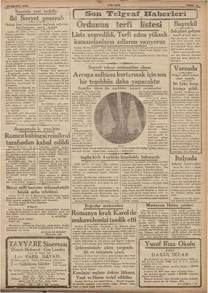 yea 29 20 Ağustos 1936 Rusyada yeni tevkifler Iki Sovyet aa Orduya fesat 2 yemenici esi suikastler hazırl, teşvik işler İ