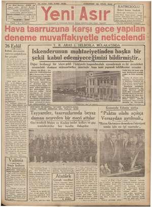 """İİ aa - Gazi Bulvarı - IZMIR - aa , Fiyatı """"s, üne © a Mo. 9356 KIRK IKINGI SENE CUMARTESİ 2s EYLUL 1936 i O emi m..."""