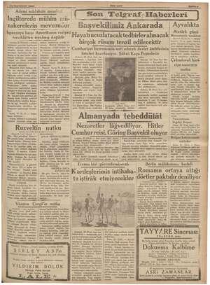 """A ve € 1936 Ademi müdahele meselesi İngilterede mühim mür- """"zakerelerin MevZuUUuür İspanyaya karşı Amerikanın vaziyeti..."""