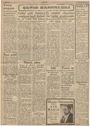 """YENİ ASIR 25 Teşrinievel 1936 semi j KIZILAY Aza adedi milletin içtimai rüştü ile müna- sib olmalıdır © programı « """"Su..."""