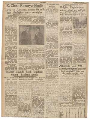 Te Gİ v . ali W YENi   ASIR © a7 Teşrinisvel 1935 bitmiş ve şu tebliğ neşrol ya ( Hariciye nazı Reid giyin ra ve setini