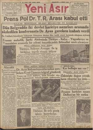 """sa - Gazi Bulvarı - IZMIR - a4 Flati """"s, kuruştur. CUMARTESİ 6 ŞUBAT 1937 Gumleriyolin Ve Gumhuriyet Eserini Bekçisi,..."""