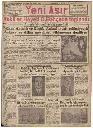 No, 9480 KIRK IKINGI SENE CUMARTESİ zo ŞUBAT 1937 ba. e şa airi —evam müddetifürkiye için|Hariç içi Atinada bir resmi:...