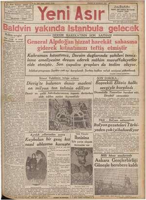 - Gazi Bulvarı iye e imuharı Ba; IZMIR - No. 9581 KIRK IKINCI SENE PAZAR 20 HAZİRAN 1937 Ma Cumhuriyetin Ve Cumhuriyet...