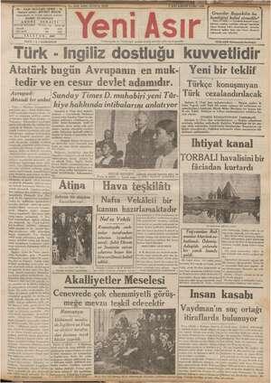 - GAZI BULVARI İZMİR - 44 ŞEVKET BİLGİN ii TELEFOR! a Siyar FİATI (5 ) KURUŞTUR Türk - ingiliz dostluğu Atatürk bugün...