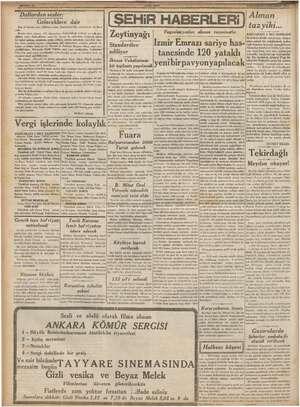 Alman . Gleceklere dair tazyıiki... Pi — R e le lela bulnduklr yerlerde ve bl gk Ze ınya' a 1 Yugoslavyadan alınan tazminatla