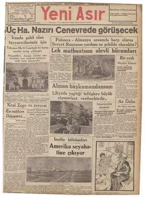 """Sirke Mi main SABLERLLEĞE EEG LERELE - GAZİ BULVARI IZMİR - 44 """"imiya eriği ŞEVKET BILGIN Başmuharrir ve umumi neşriyat..."""