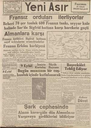 İlân münderecatından gazetemiz mesuliyet ie Fransız orduları 44 - GAZI İmtiyaz sabibii a SEVKET BLĞIN, muharrir 've...