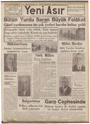 ARI IZMIR - 44 No. 10341 Kırk Beşinci Yıl o FİATİ (5) KURUŞTUR 28 llkkânun Perşembe 1939 - GAZI BULV. ediz sahibi: ŞEVKET