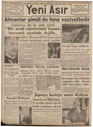 44 - GAZI BULVARI IZMIR - 44 AİN YAAR, MOŞMÇ EN FIATİ (5) KURUŞTUR 3 MAYIS CUMA 1940 ir 4 Bi Bulgaristanda bir HAKKI...