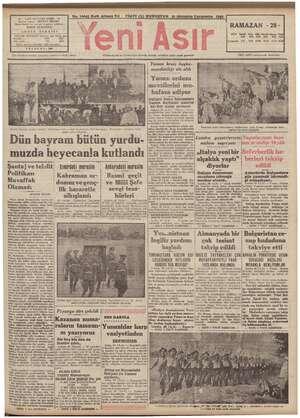 İ ilân münderecatından gazetemiz mesuliyet kabul etmez Cümhuriyetin ve Cümhuriyet eserinin bekçisi, sabahları çıkar siyast