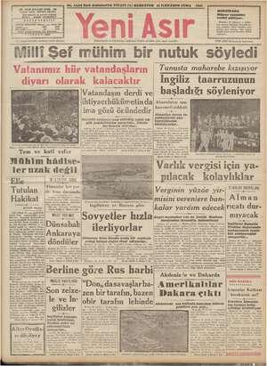 No. 11416 Kırk SehkizinciYıl FİYATI (5) KURUSTUR 25 ILKKANUNCUMA 1942 —— —— ii << Z « GAZİ BULVARI İZMİR . 116 z nişi zl