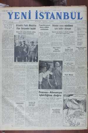 Yeni İstanbul Gazetesi 2 Aralık 1949 kapağı