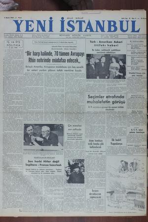Yeni İstanbul Gazetesi 4 Aralık 1949 kapağı