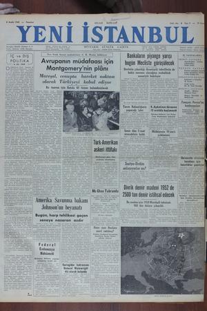 Yeni İstanbul Gazetesi 5 Aralık 1949 kapağı