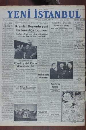 Yeni İstanbul Gazetesi 6 Aralık 1949 kapağı