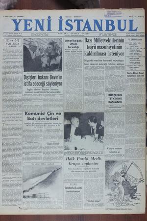 Yeni İstanbul Gazetesi 7 Aralık 1949 kapağı