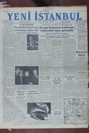 Yeni İstanbul Gazetesi 13 Aralık 1949 kapağı