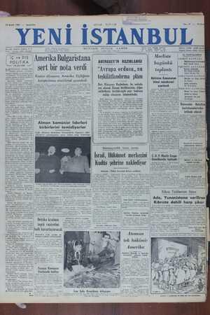 Yeni İstanbul Gazetesi 14 Aralık 1949 kapağı