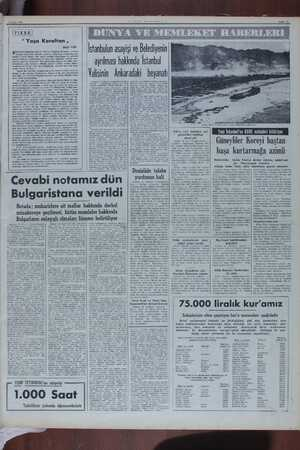 """17 Ekim 1050 sayfa 97 İFIKRA """" Yaşa Koraltan , Bedii FAİK JADYODA dinledim: Büyük Meclisin Başkanı Koraltan, cenuba aptığı"""