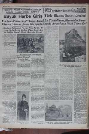 """General Kâzım'KarabekirinHatıratı ABgYÜK HARBE NASIL GiRDiK ?f Büyük Harbe Giriş Encümeni Vükelâda """"Harbe Derhal Girmek"""