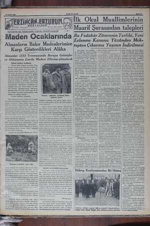 ERTi NCAN. ERZURUM. KURTULUZU İKTİBAS VE TERCÜME HAKKI MAHFUZDUR Kâzım Karabekir Maden Ocaklarında Almanların Bakır...