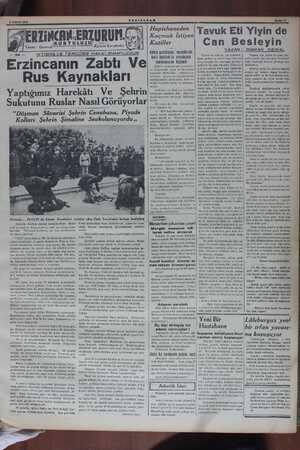 A NİSAN 1939 Tiğla. — CAN.ERZURUN. KURTULULZU YENISABAN Kâzım Karabekir İKTİBAS VE TERCÜME HAKKI MAHFUZDUR Erzincanın Zabtı