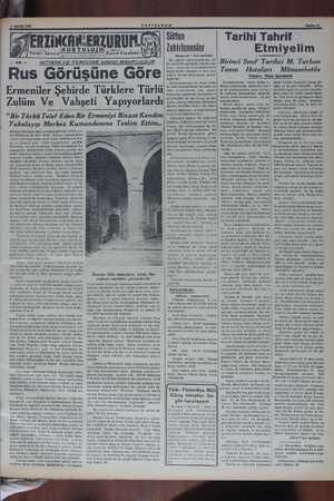 RZINCAN.ERZURUN. KUITULUIU ' l Zulüm Kdnm Karabekir TİBAS VE TERCÜME HAKKİ MAHFUZDUR Rus Görüşüne Göre Ermeniler...