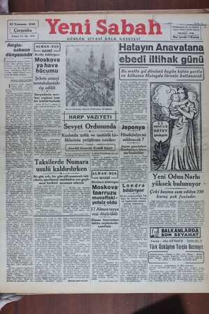 23 Temmuz 19 40ncü Yıl - No. ti Anğıb- sakson 'dünyasında Amerika'da Alman tehlike- sine iman gittikçe kuvvet- leniyor ve