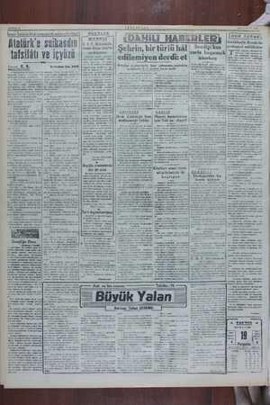 SAYFA: £ !ımır İstiklâl Mah Atatürk'e <emesinde neler ggör sulkasdın tafsilâtı ve içyüzü Fazan C. R. S — Görüyorsun ki...