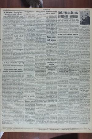 a | | | b 5 MAYIS 1940 YENİ SABAH F. Kurtuluş - Cumhuriyet dâvası devam ediyor Dünkü duruşmada Fahri Kurtuluş da bulundu