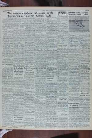 """A 10 TEMMUZ 1919 Dün YENİ 8 akşam Tophane rıhtımına bağlı ABAH Çorum'da bir yangın faciası oldu (Baştarah""""1 Twt2a) durumda"""