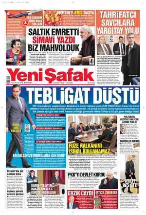 Yeni Şafak Gazetesi 18 Şubat 2012 kapağı