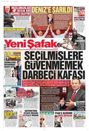 Yeni Şafak Gazetesi 19 Şubat 2012 kapağı
