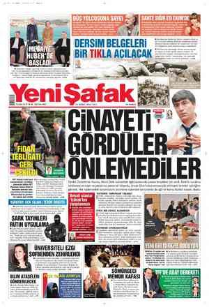 Yeni Şafak Gazetesi 21 Şubat 2012 kapağı