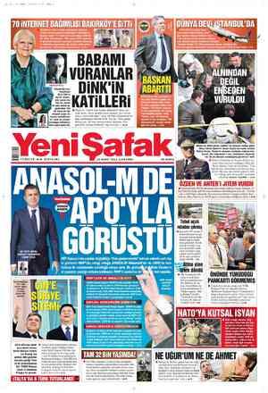 Yeni Şafak Gazetesi 22 Şubat 2012 kapağı