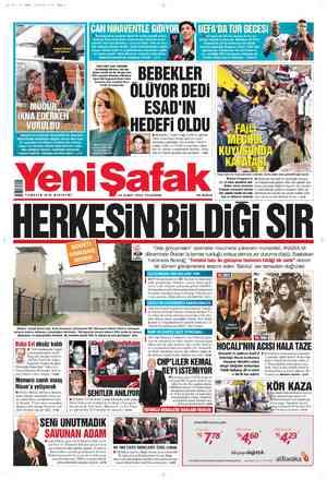 Yeni Şafak Gazetesi 23 Şubat 2012 kapağı