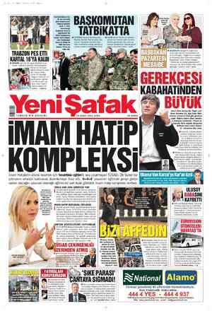 Yeni Şafak Gazetesi 24 Şubat 2012 kapağı
