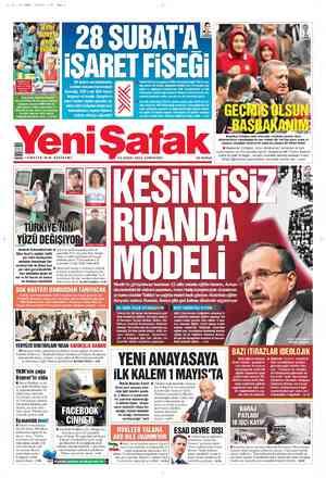 Yeni Şafak Gazetesi 25 Şubat 2012 kapağı