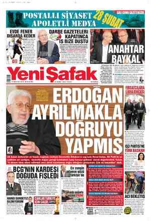 Yeni Şafak Gazetesi 26 Şubat 2012 kapağı