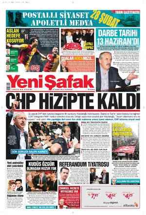 Yeni Şafak Gazetesi 27 Şubat 2012 kapağı