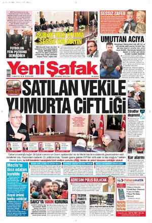 Yeni Şafak Gazetesi 28 Şubat 2012 kapağı
