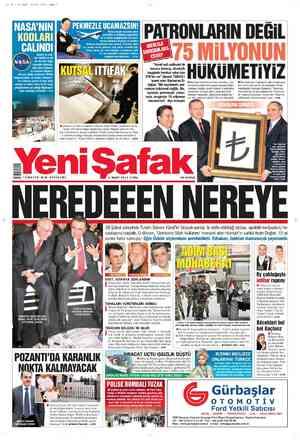 Yeni Şafak Gazetesi 2 Mart 2012 kapağı