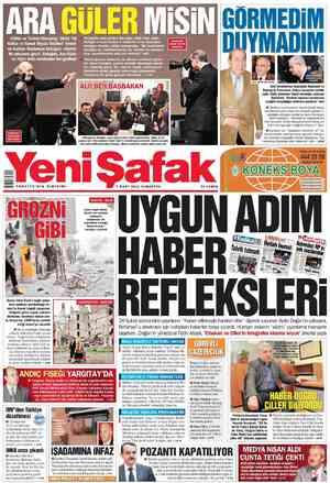 Yeni Şafak Gazetesi 3 Mart 2012 kapağı